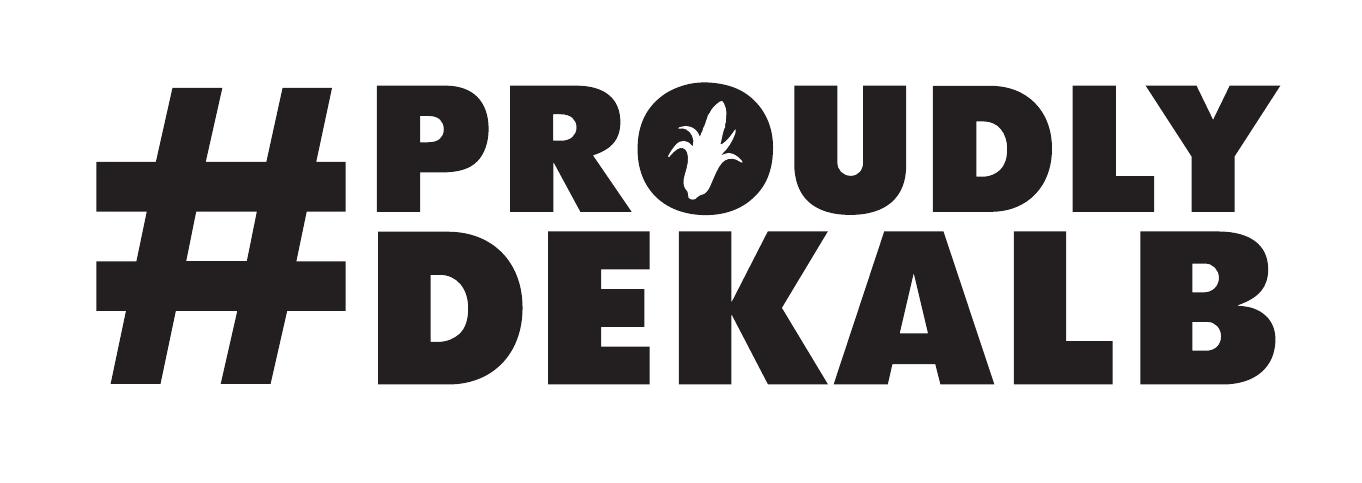 Proudly DeKalb horizontal logo