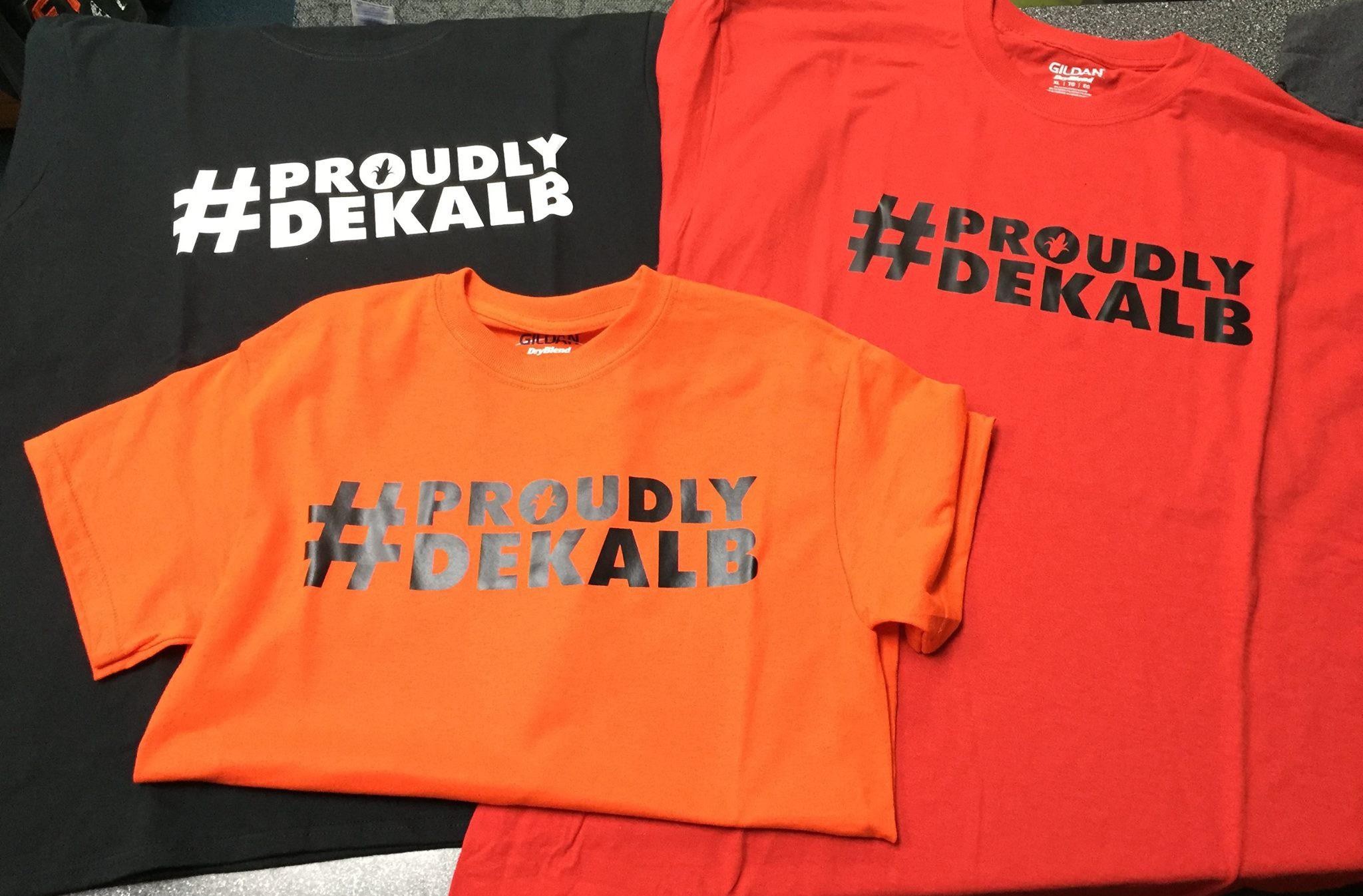 Proudly DeKalb t-shirts