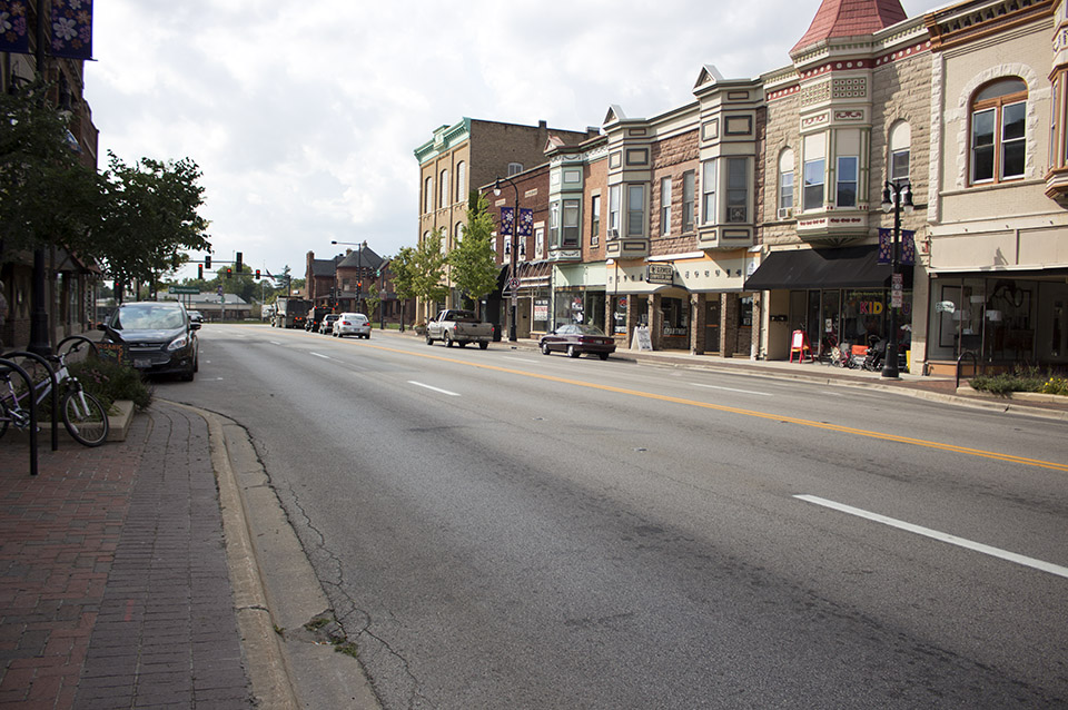 Lincoln Highway in downtown DeKalb